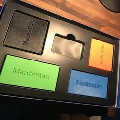 Download free 3D printing templates Manhattan Board Game Player Cases, Hardcore3D