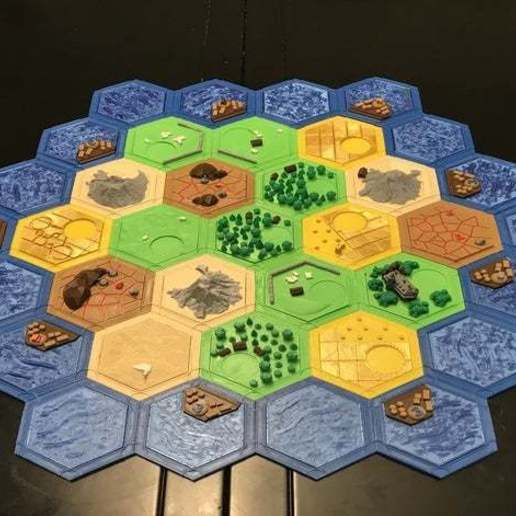 featured_preview_2019-09-02_16.58.23.jpg Download free STL file Complete Catan Tile Set - Single Nozzle, Multi-color Layers • 3D printing model, Hardcore3D