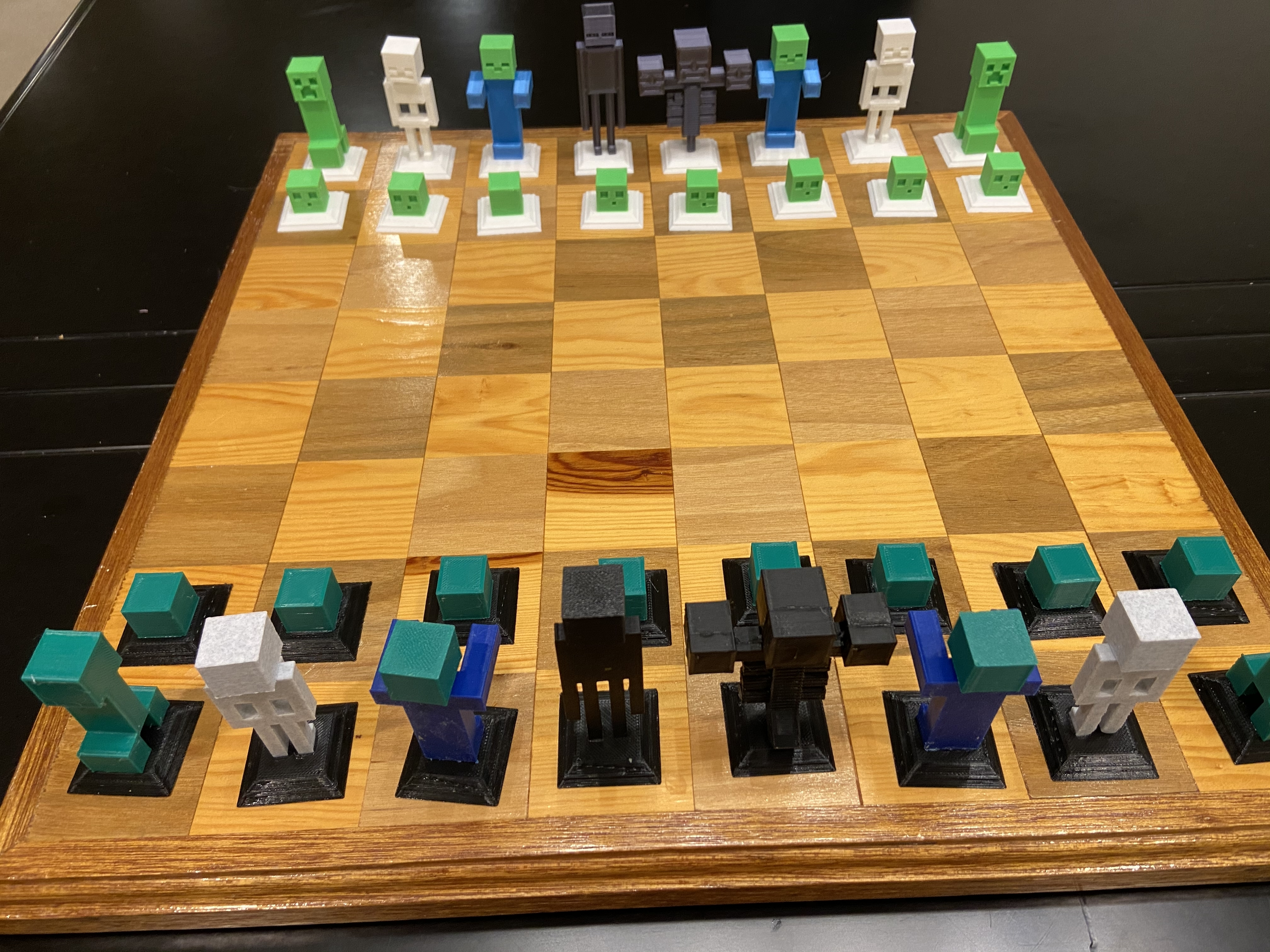 2020-01-20_00.58.09.jpg Download free STL file Complete Minecraft Chess Set • Model to 3D print, Hardcore3D