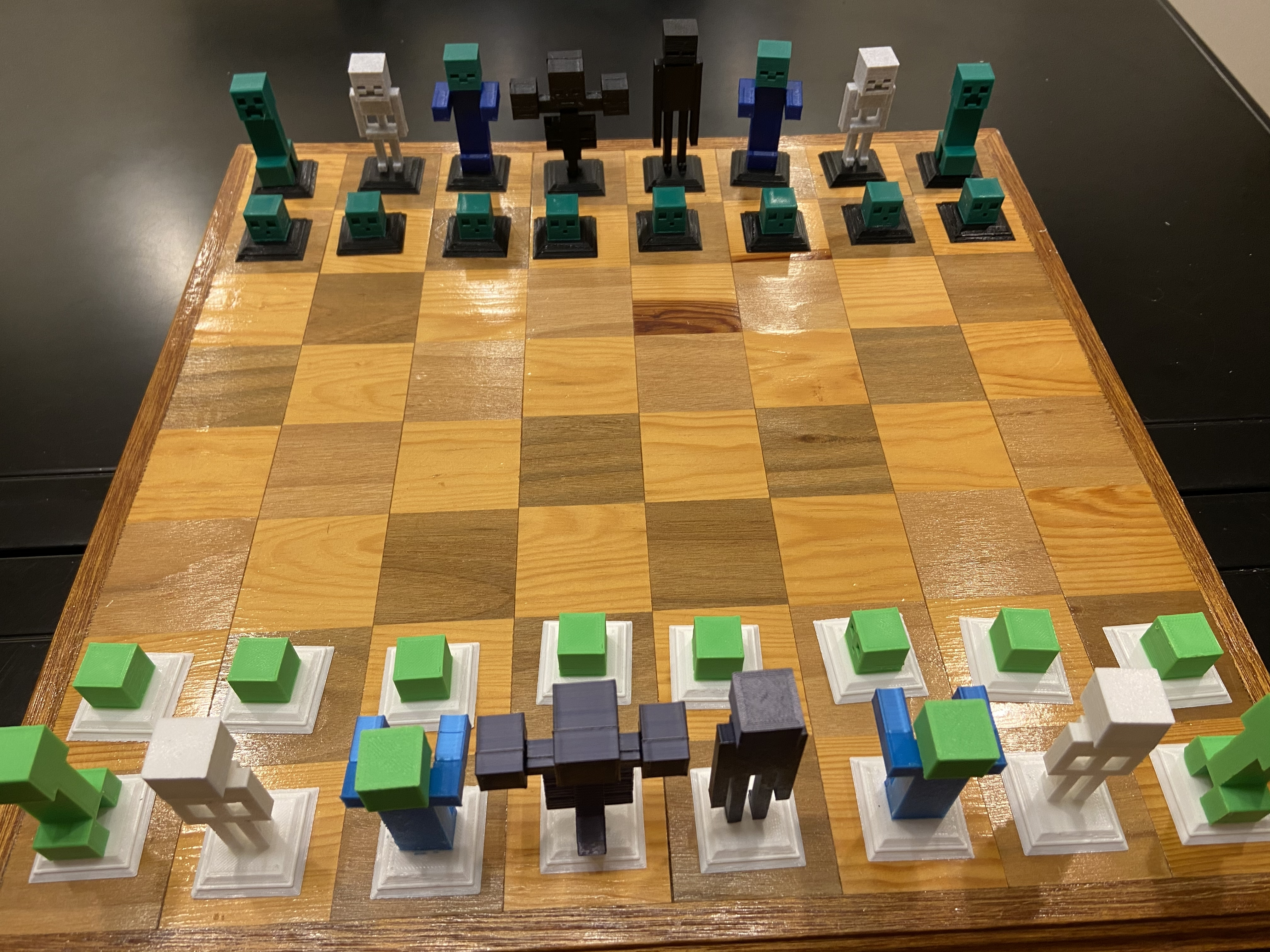 2020-01-20_00.58.02.jpg Download free STL file Complete Minecraft Chess Set • Model to 3D print, Hardcore3D