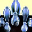 Download free 3D printer templates Vase Collection, WRIGHTMEDIA