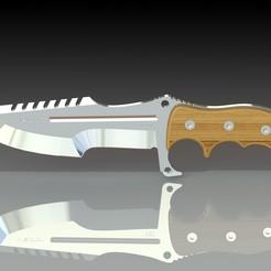 Download free 3D printer designs Combat knife, filipcuk