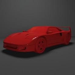 Descargar modelos 3D para imprimir Ferrari F40 Impresión 3D Archivo STL, Sim3D_
