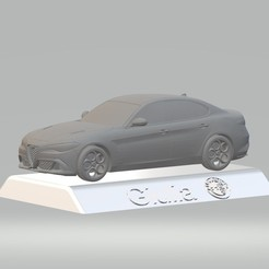 Download STL file Alfa Romeo Giulia 3D CAR MODEL HIGH QUALITY 3D PRINTING STL FILE, punkds87