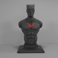 Download 3D printer designs Batman Beyond Bust 3D Print Model, Sim3D_