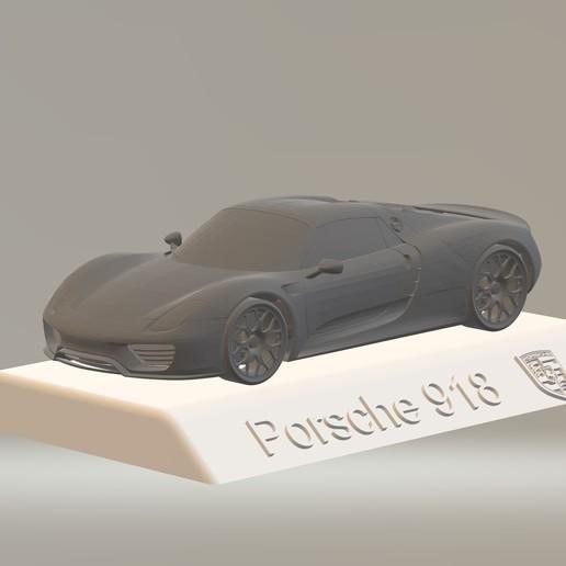Porsche 918 3D CAR Model HIGH QUALITY 3D PRINTING STL FILE