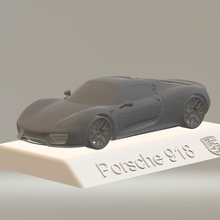 Descargar modelos 3D para imprimir Porsche 918 3D CAR Model HIGH QUALITY 3D PRINTING STL FILE, punkds87
