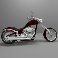 Descargar STL Big Dog K9 Chopper Motocicleta Modelo 3D para imprimir, Sim3D_