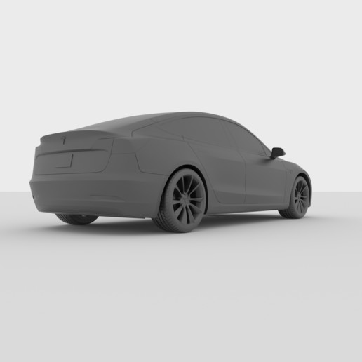 Download 3D printing templates Tesla Model 3 for 3D ...