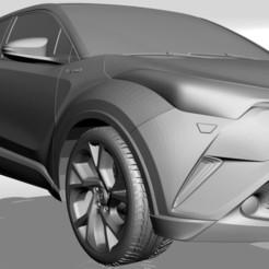 Télécharger plan imprimante 3D TOYOTA C-HR 2017 MODÈLE 3D POUR L'IMPRESSION DE FICHIERS STL EN 3D, 3Dplace