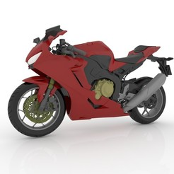 9.jpg Download STL file Honda CBR 1000RR Fireblade For 3D Printing STL File • 3D printer object, Sim3D_