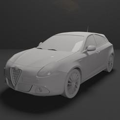 6.jpg Télécharger fichier STL gratuit Alfa Romeo Giulietta 2010-2019 PRÊTE À L'IMPRESSION • Modèle pour imprimante 3D, Sim3D_