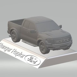 Download 3D printer designs Ford Raptor F150 3D Model Car Custom 3D Printing STL File, punkds87