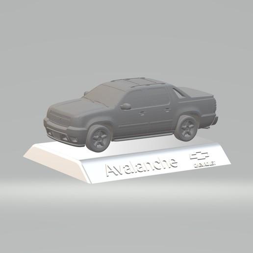 Download 3D printer designs Chevrolet Avalanche 3D MODEL CAR CUSTOM 3D PRINTING STL FILE, punkds87