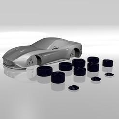 Impresiones 3D MODELO T DE FERRARI CALIFORNIA PARA LA IMPRESIÓN EN 3D DE ARCHIVOS STL, Sim3D_