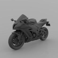 2.jpg Download free STL file Kawasaki Ninja ZX-10R 1000 3D Printable Model STL File • 3D printer template, Sim3D_