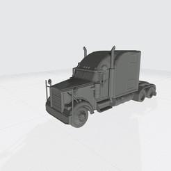 American Truck.jpg Download STL file 3D Hauler American Truck Model Ready For 3D Printing Stl File  • 3D printing design, Sim3D_