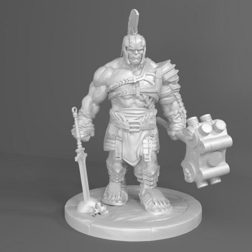 Download STL file Hulk Gladiator 3D Model For Print • Object to 3D print, Sim3D_