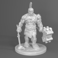 Download 3D printer designs Hulk Gladiator 3D Model For Print, Sim3D_