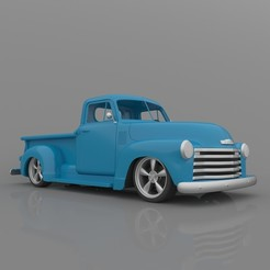 2.jpg Download free STL file Chevrolet 3100 Pickup 1950 Classic for 3D Printing • 3D printing model, Sim3D_