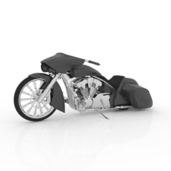 6.jpg Download STL file Bagger Chopper Motorcycle for 3D Print • 3D printable template, Sim3D_