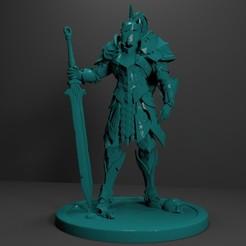 1.jpg Download free STL file Knight Miniature 3D Print Model • Model to 3D print, Sim3D_