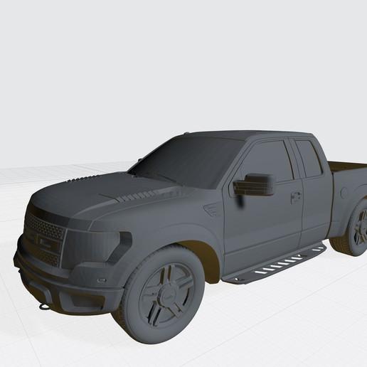 Download 3D Printer Designs Ford Raptor F150 3D Model Car