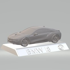 Download 3D printing designs BMW i8  3D CAR MODEL HIGH QUALITY 3D PRINTING STL FILE, punkds87
