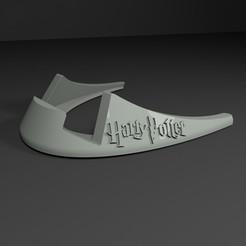 1.jpg Download STL file Cell Phone and Tablet Holder/Stand Harry Potter • 3D printable design, Sim3D_