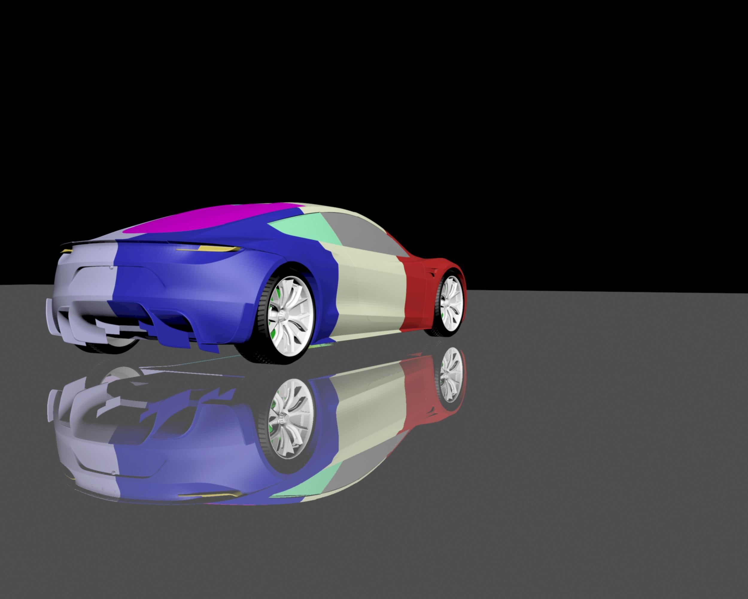 Download free STL file Tesla Roadster 2020 3D MODEL FOR 3D ...