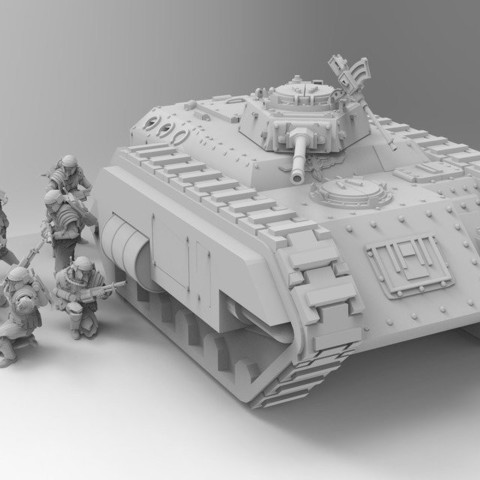 1cb7d12e004febaf90a751a85e2aeb18_display_large.jpg Download free STL file Kimera Armoured Transport - Spearhead the Assault • 3D print design, ThatEvilOne