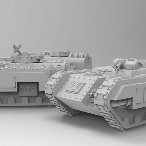 904253f67bc466a8e90ac1cd84fd2106_display_large.jpg Download free STL file Kimera Armoured Transport - Spearhead the Assault • 3D print design, ThatEvilOne
