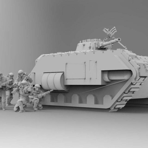 2d53fbd327ebe2b93dc0ae392ccfbc25_display_large.jpg Download free STL file Kimera Armoured Transport - Spearhead the Assault • 3D print design, ThatEvilOne
