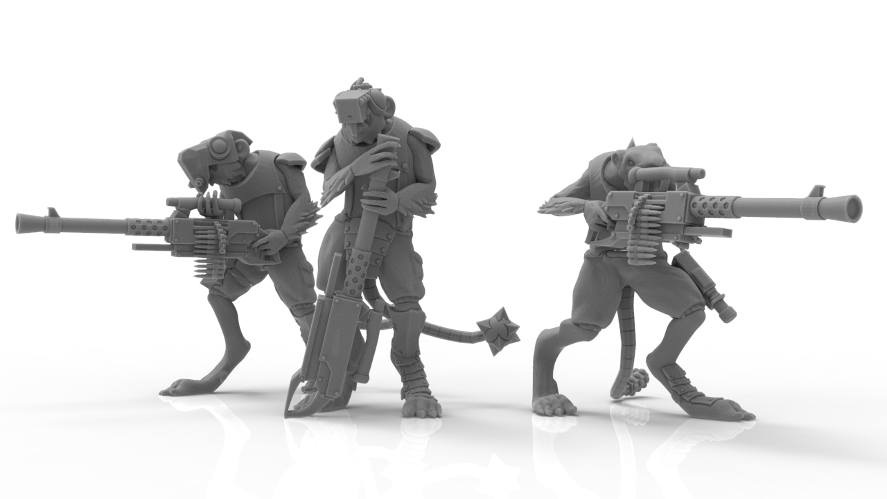 untitled.493.png Download STL file Cheese Stealer Cult - Vermin Packs • 3D print design, ThatEvilOne