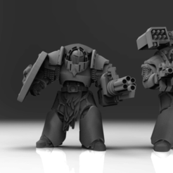 Download free 3D model Space Puppies - Long Claw Battle Leaders, ThatEvilOne