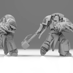 Download free OBJ file Silver Paladin - Lord Captain • Model to 3D print, ThatEvilOne