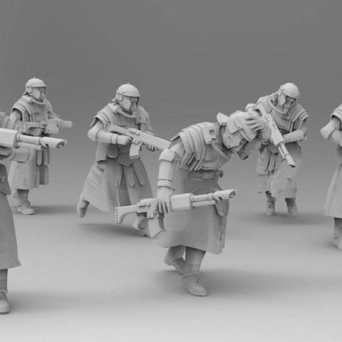 Download free 3D printing files Hastati - Advancing, ThatEvilOne