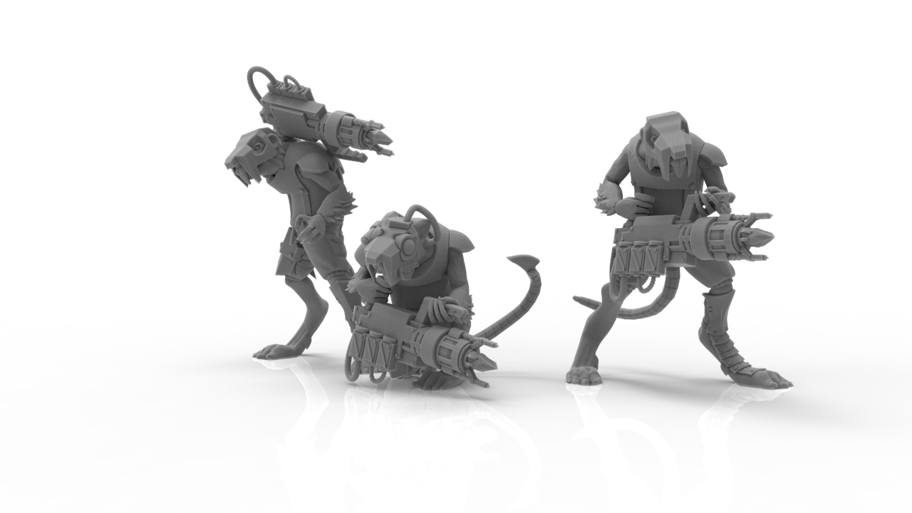 untitled.494.png Download STL file Cheese Stealer Cult - Vermin Packs • 3D print design, ThatEvilOne