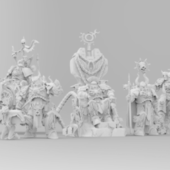 Download free 3D printer files The Court of the Ashen Phoenican - 3000 Followers!, ThatEvilOne