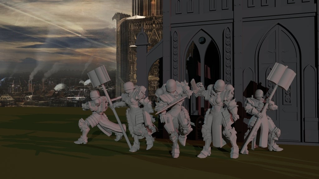 062ae791e9908733f578ad64d90bd901_display_large.jpg Download free STL file Sisters Command Retinue • 3D printable design, ThatEvilOne