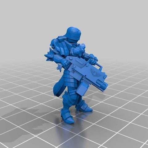 dd5c59d457512699f80eeacc053b21b6_display_large.jpg Download free STL file Sisters Heavy Bolter/Flamer • Model to 3D print, ThatEvilOne