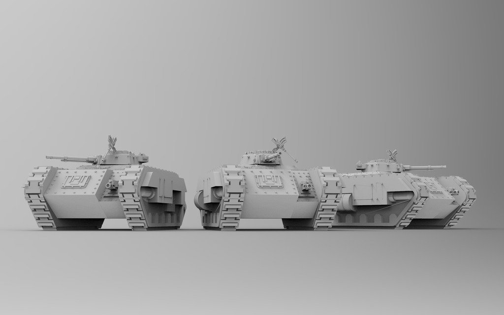 5c7180649392d8213a700fc9224ac42b_display_large.jpg Download free STL file Kimera Armoured Transport - Spearhead the Assault • 3D print design, ThatEvilOne