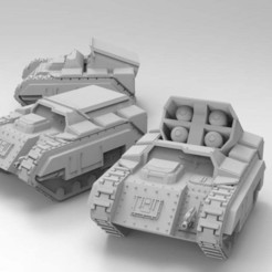 Download free STL file Rain the Fires of Vulcan - Jericho Artillery • Object to 3D print, ThatEvilOne