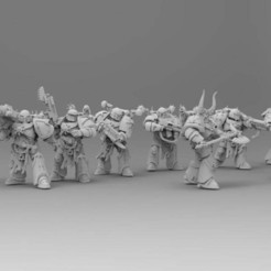 Download free STL file Knights Traitoris - Squad Telion • 3D printer template, ThatEvilOne