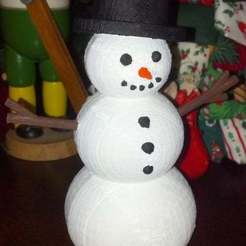 Download free 3D printer templates Snowman, Djindra