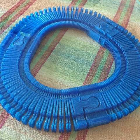 Download free 3D printer templates Double Sided Remix of Customizable Flexible Toy Train Tracks, Djindra