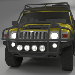 Download STL file Hummer H2 2003 With Exo-skeleton 3D model, WhataAsset