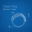 Télécharger plan imprimante 3D gatuit Bague de Chaîne avec Pierres Gemmes, KhatriCad