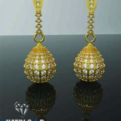 Download free 3D model Oval Shaped Earrings, Khatri3D