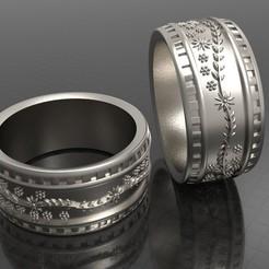 1.jpg Download OBJ file Ornament Ring • 3D printable design, Khatri3D